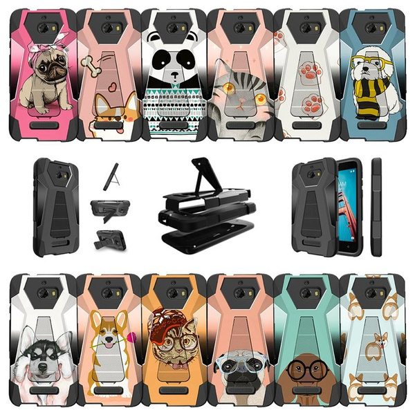 sports shoes 65859 977ba CoolPad Defiant | CoolPad 3632A Phone Case Cute Pet Collection [ Hybrid  Case w/ Hipster Pets Design Phone Case ] Protective Case w/ Kickstand