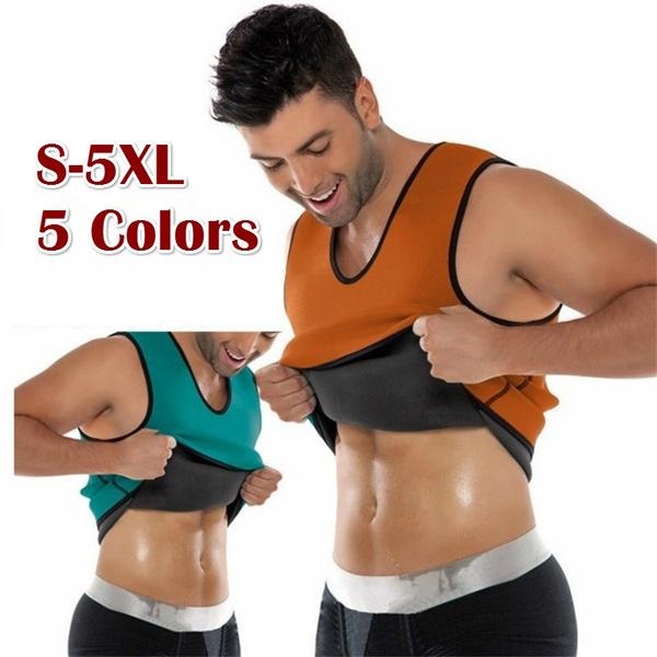 Men/'s Neoprene Slimming Vest Hot Gym Power Belt Body Shapewear Men Shaper Shirt