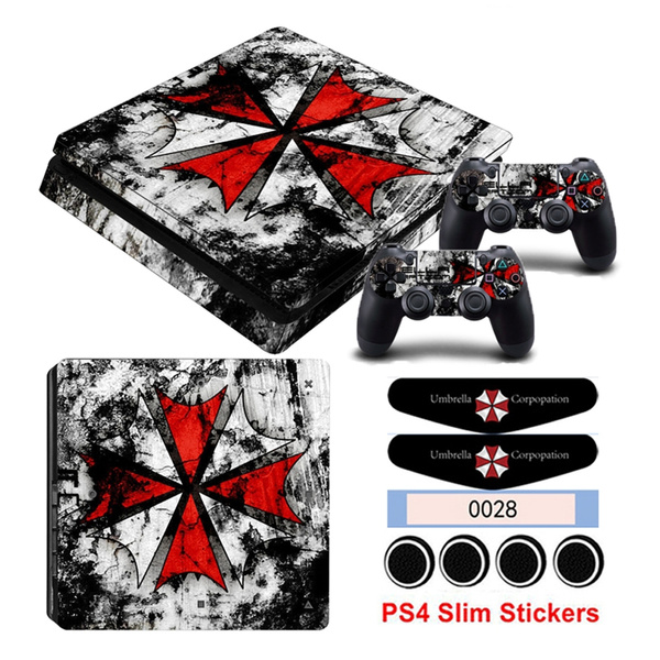 For Palystation 4 PS4 Slim PS4 Controller Suface Led Light Bar & Caps The  Resident Evil - Revelations 2 Theme Console Game Skin Sticker