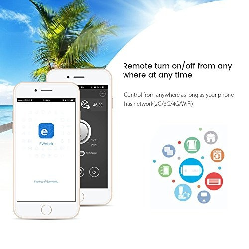 Sonoff 4CH Pro Wi-Fi Smart Switch 4-Gang Din Rail Mounting Home Automation  , Self-Locking/Interlock Control Home Appliances, Works with Amazon Alexa