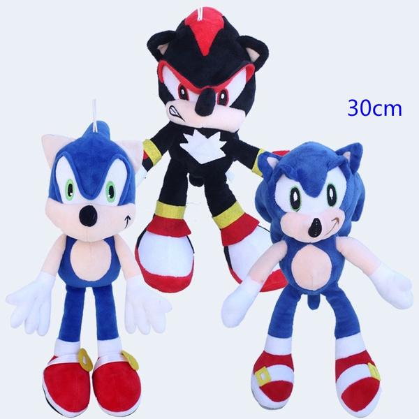 1pcs Sonic Plush Toys Doll 30cm Sonic The Hedgehog Black Shadow The Hedgehog Plush Stuffed Toys For Children Kids Xmas Gift Wish