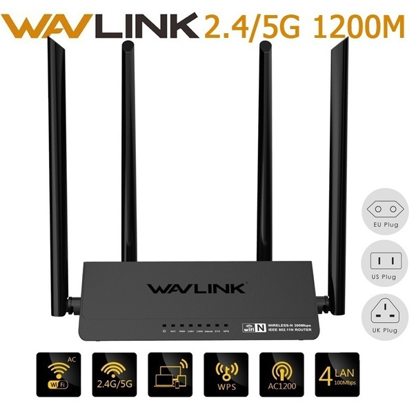 Wavlink WN521R2P Router 4x5dBi Antennas 300Mbps Wireless Router Mobile  Phone App Control Wifi Signal Amplifier for Home Office Netbar
