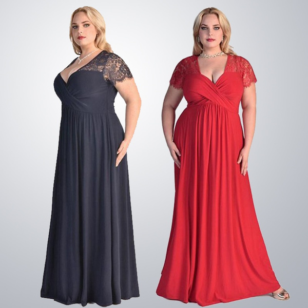 Plus-Size-Formal-Gowns   Wish