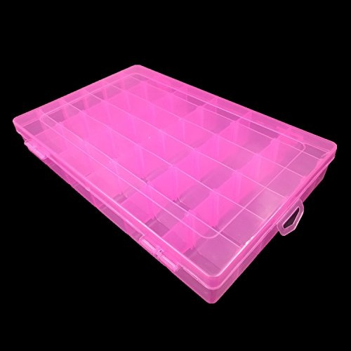 Wish Kalevel 36 Grid Storage Box Clear Jewelry Organizer Box