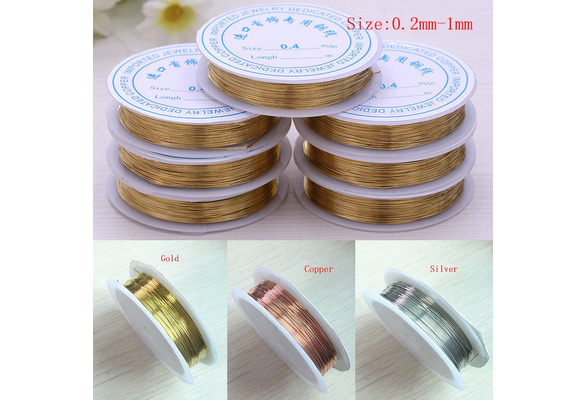 0.2mm-1.0mm 1PCS Plated Copper Wire Beads Earring Bracelet Necklace Jewelry Making DIY Craft