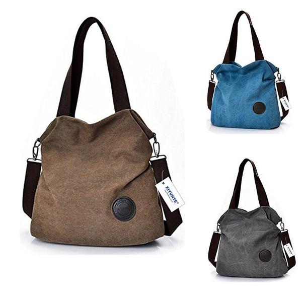 Large Canvas Handle Handbagscanvas Bag