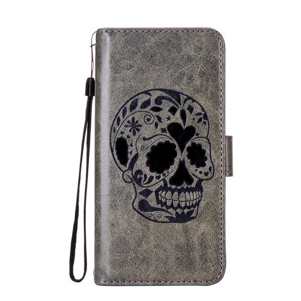 325ac6a1692a GOOD! Luxury PU Leather Skull Wallet Case Folio Flip Protective Cover with  Credit Card Holder Stand Mobile Phone Case Cover Bag For ZTE Max Blue 4G ...