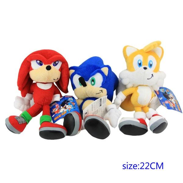 3pcs Set New Arrival Sonic Boom Plush 22cm Super Sonic Plush Toys Cartoon Tv Sonic The Hedgehog Plush Wish