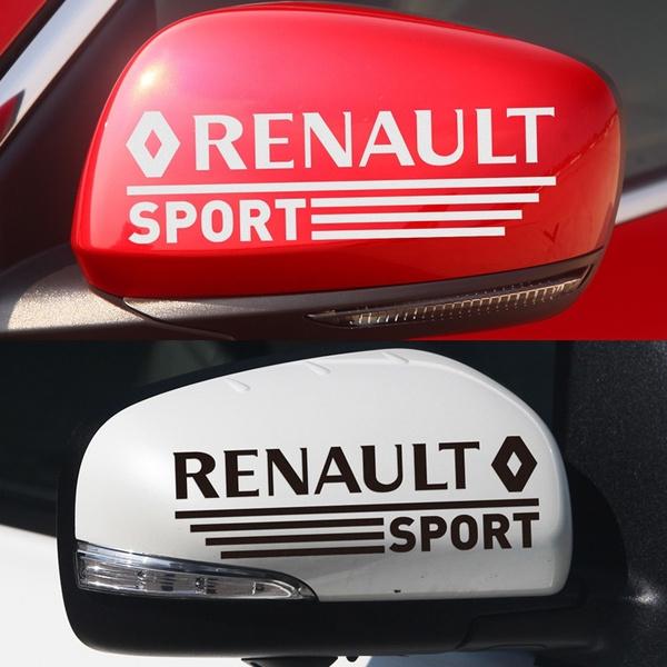 2x RENAULT sport STICKER vinyl decal for REARVIEW mirror Laguna Megane Clio