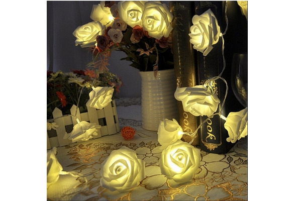 Events and Parties 2M 20LED Wedding Rose LED String Lights Battery Holiday Decoration Lightings LED Guirlande Lumineuse