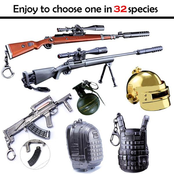 PUBG Models M24 AKM 98K AWM SCAR Key Buckle Key Chain Saucepan Pendant  Gaming Toys (32 species)