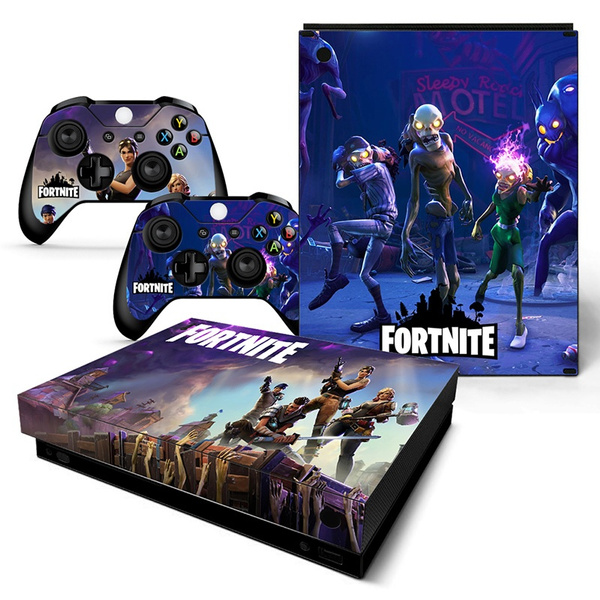 Xbox One X Sticker Fortnite Vinyl Decal Skin Sticker Cover For Microsoft Xbox One X Console 2 Controllers Skins