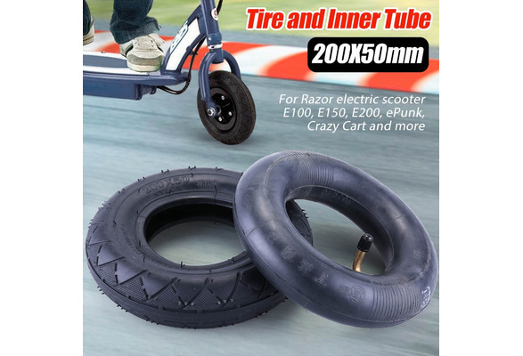 200x50 Tire Inner Tube Set By Lotfancy Electric Scooter Tire Tube For Razor E100 E150 E200 Power Core E100 Dune Buggy Epunk Crazy Cart