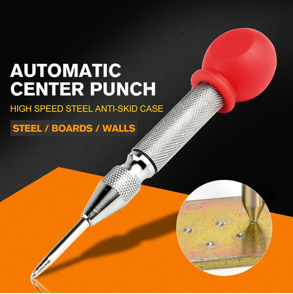 Automatic Centre Punch Marking Drilling Tool HSS Center Punch Stator Automatic Center Pin Spring Loaded Marking Drilling Tool