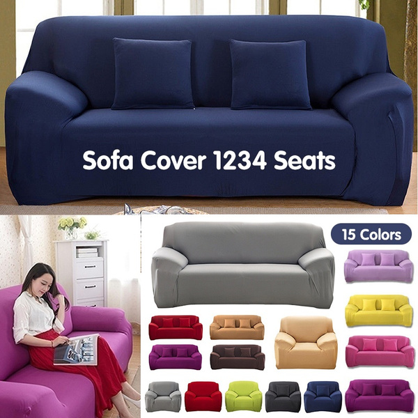 1 2 3 4 Seater Recliner Chair Sofa Covers Protector Couch Cover Slipcover  Multicolor, 4 Size