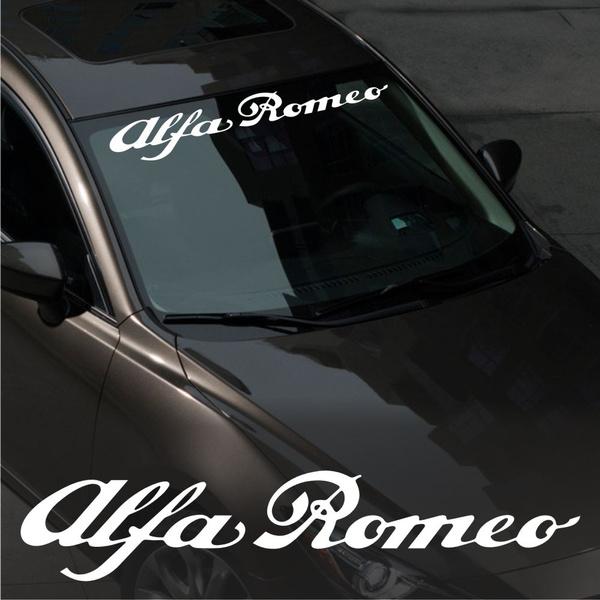Alfa Romeo WINDSHIELD CAR Premium STICKER vinyl decal #2 145 146 147 155 156 159
