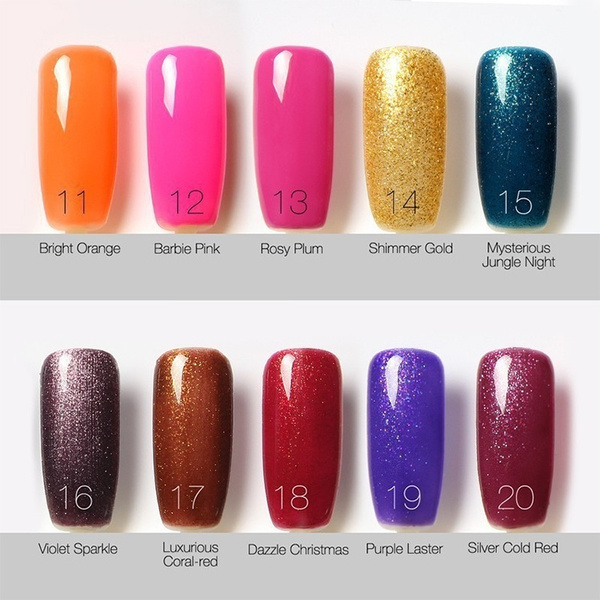 Wish | 6 ML Women Fashion Classic Color Series Soak Off Gel Nail ...