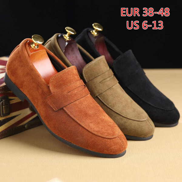 Men Fashion Night Club Shoes Flat Shoes Suede Leather Doug Shoes Casual Moccasin Slip On Driver Shoes Dress Loafers Wish