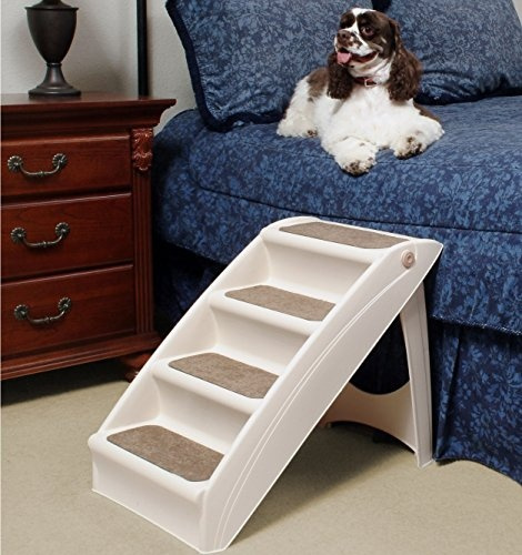 Stupendous Petsafe Solvit Pupstep Plus Pet Stairs Foldable Steps For Dogs And Cats Best For Small To Medium Pets Dailytribune Chair Design For Home Dailytribuneorg