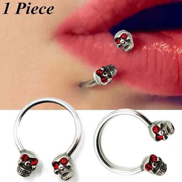 Steel, skull, piercingjewelry, tonguepiercing
