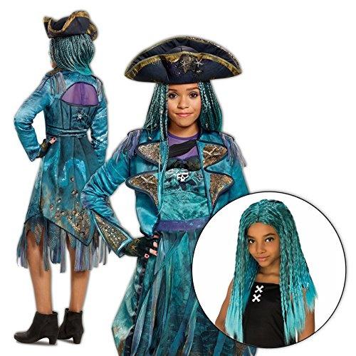Uma Costume Descendants 2 Disney Girls Deluxe Isle with Wig Kit - 4/6