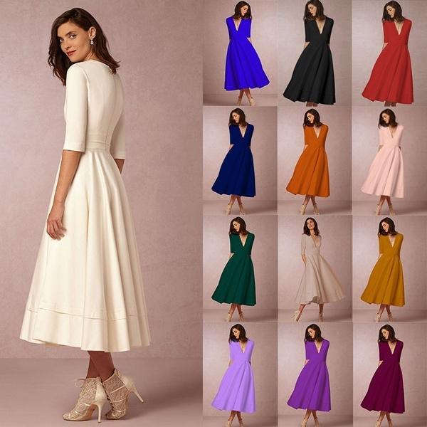party, Elegant, women casual dress, Evening Dress