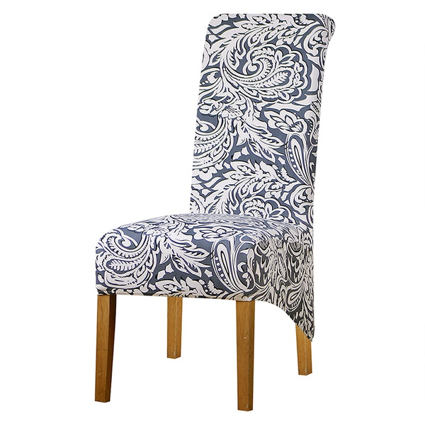 L Size Long Back Size Chair Covers Printed Flowers Checked Pattern Slipcover New
