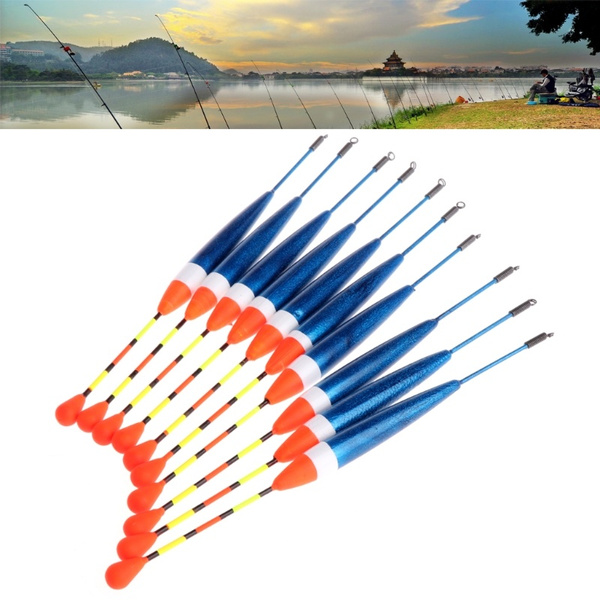 Fishing Floats Buoy Bobber Stick For Fish Tackle Vertical Accessories 10 Pcs//Set