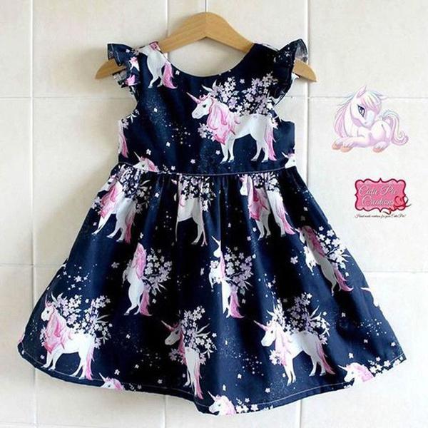cute, long skirt, Fashion, unicorn