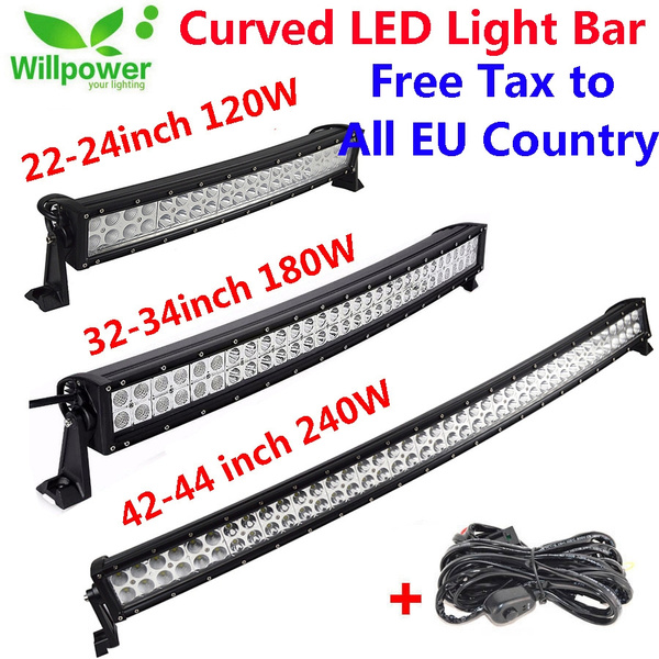 24inch 280W LED Light Bar Curved Spot Flood Offroad  Truck 4WD ATV Boat 22/'/'