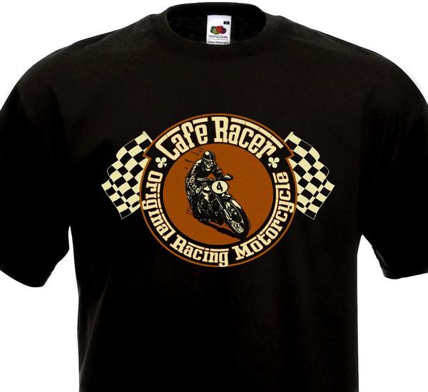 T-shirt CAFE RACER Racing Motorcycle Custom Norton Triumph Triton Rockers BSA