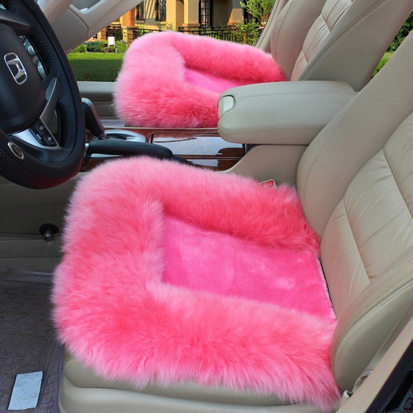 Wish Universal Wool Soft Warm Fuzzy Auto Car Seat Covers Front