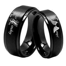 Couple Rings, Steel, wedding ring, Angel