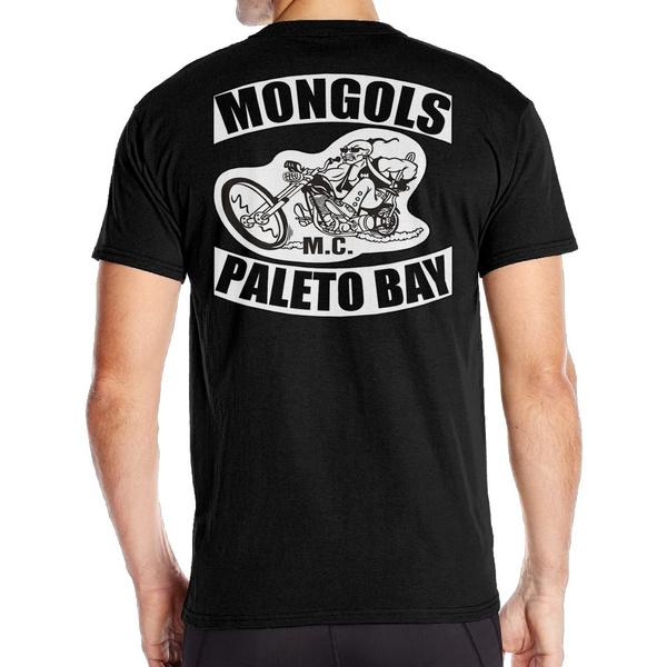 Custom Mongols MC T-shirt For Man 100% Cotton Short Sleeve Wish Size