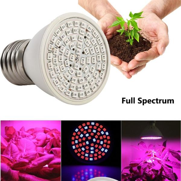 60/200 Leds Plant Grow Light Bulbs Clip Holder Flower Growing Green House  Aquarium for Plants Indoor Hydroponics Greenhouse Garden Plant Vegetables