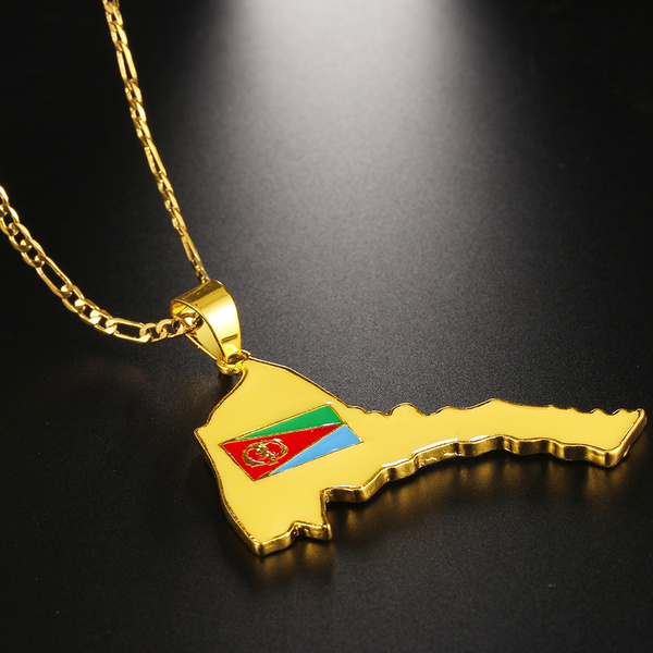 Eritrean Map Pendant & necklace Country Map Jewelry 18K Real Gold Plated on map party decor, map blouse, map linens, map engraving, map gift wrapping, map of nashville necklace, map drapes, map end tables, map throw blanket, map items, map pouf, map sweatshirt, map vest, map party favors, map pendant necklaces, map name tags, map art, map wall artwork, map necklace diy, map gift tags,