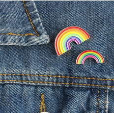 multicolorpin, Mini, pridepin, backpackpin