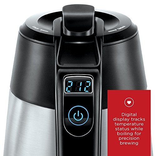 Stainless Steel Premium Grade Carafe Style w// Chefman Cordless Electric Kettle