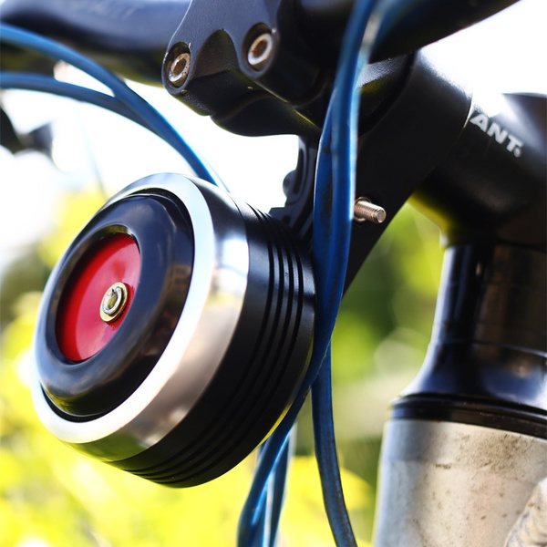 Bicycle Bell Electric Horn Alarm Remote Control Loud Sound Ring USB Road Bike