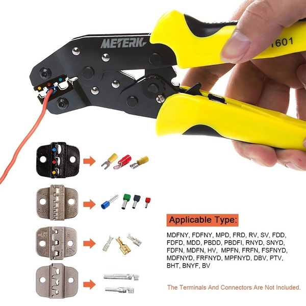 Wish | Industry Useful Insulated Terminals Ferrules Press Crimping Plier Engineering Ratchet Wire Crimper Striper Cutter