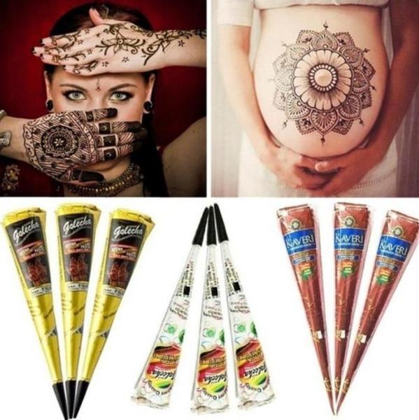 Wish Cpwa 1pcs Indian Mehndi Henna Tattoo Paste Black Brown Red
