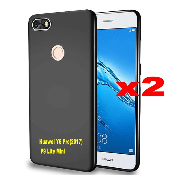 new product 3df47 d16af 2pcs Soft Silicone Case For Huawei P9 Lite Mini 2017 Protective Back Cover  for Huawei P9 Lite Mini 5.0