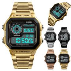 LED Watch, quartz, led, Jewelery & Watches