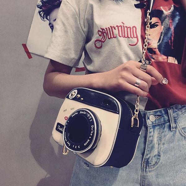 Small Bags Vintage Fashion Lady Camera Shoulder Bag Women Chain Messenger Female
