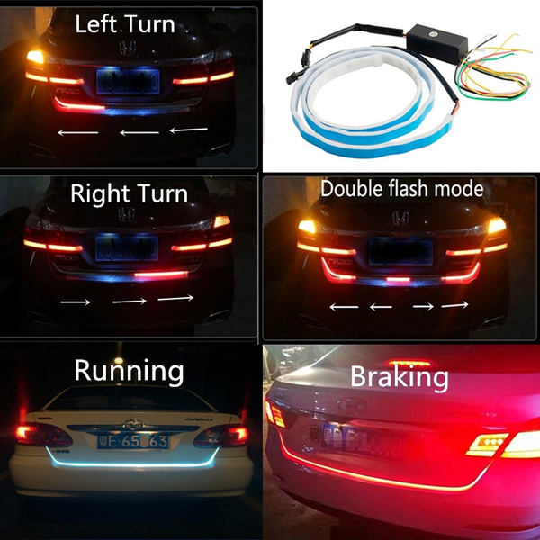 Car Tail Lights >> Car Vehicle Tail Light Lamp Strip High Power 335chip Side Luminescence Running Ice Blue Brake Red Reverse Backup Light Left Right Turn Signal Led