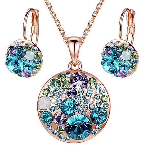 925 sterling silver, Jewelry, crystalpendantearring, Jewelry Set