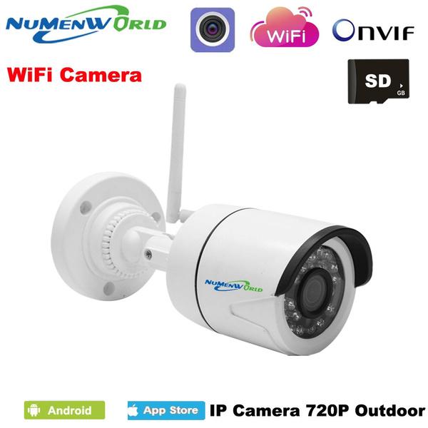 HD Wireless IP Camera wifi Outdoor Waterproof Camera IP mini Micro SD Slot  Wifi IP cam 720P HD P2P ONVIF