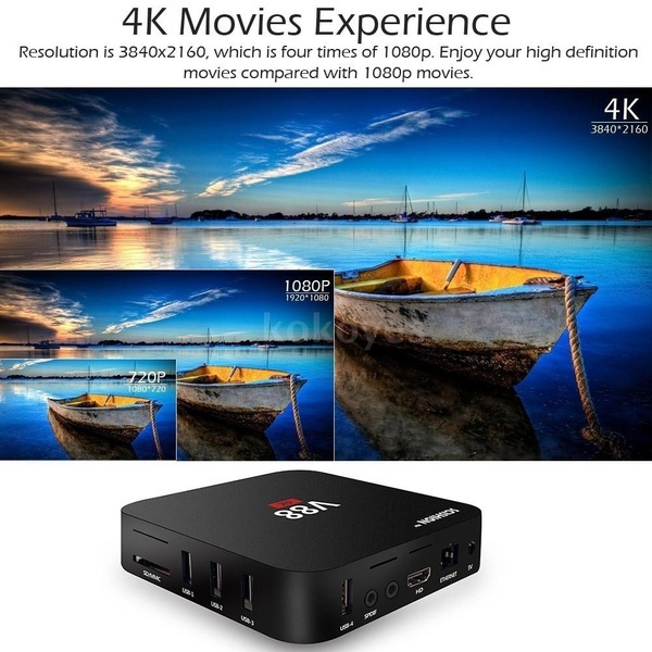 TV Box RK3229 Quadcore 4K Wifi HDMI Android 6 0 1G/8G Smart TV Box  (US/EU/UK/AU Plug) + Mini Wireless Keyboard i8 mouse