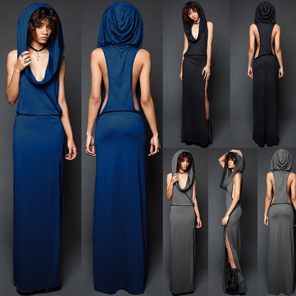 GOTHIC DRESS, splitdre, long dress, Dress