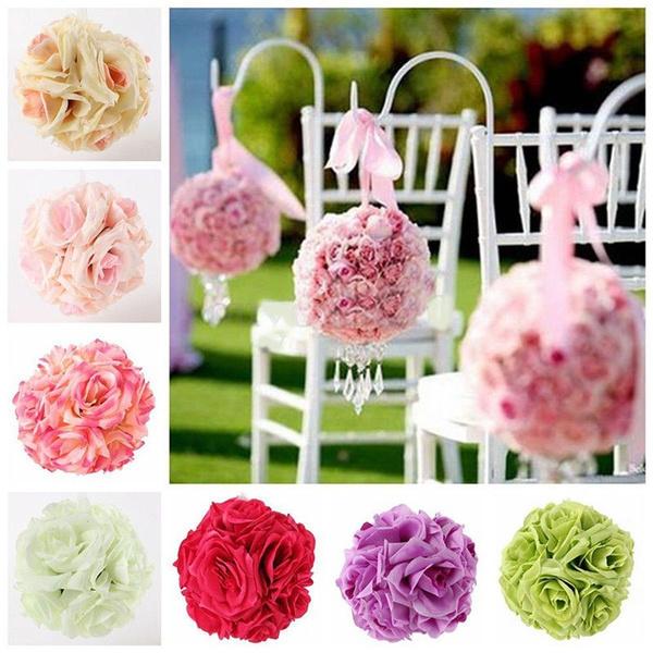 8/'/' Artificial Silk Rose Flower Ball Pomander Wedding Party Bouquet Decorations